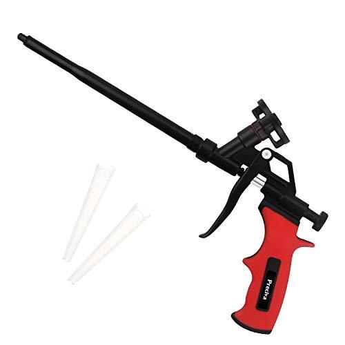 Schaumpistole, Preciva Bauschaumpistole Bauschaum Pistole PU Expanding Foam Gun Dosierpistole aus Metall (Rot)