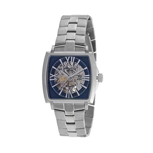 Kenneth Cole orologio da uomo con cinturino e cassa in acciaio automatico quadrante blu 10019494