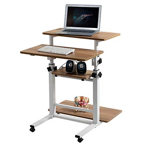 HYXL Rolling Laptop Desk,Mobile Side Table, Einstellbarer, Beweglicher Tablettenschlitz Und-räder, Tragbarer Laptop-Stand Für Bett-Sofa-a -