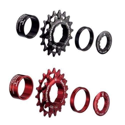 RELIC New Bike 11 to 2 Single Bicycle Sprocket Speed Kit Conversion Kit (RED) -