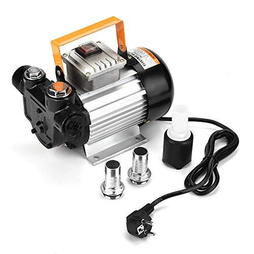 Dieselpumpe, Selbstansaugende Heizölpumpe Elektrische Ölpumpe, aus Gusseisen, 550W, 220V Ölabsaugpumpe, 60-70L / Min, 4 PSI (3 BAR), mit Gelenke und Sieb