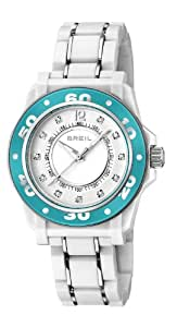 Breil Women's Quartz Watch with White Dial Analogue Display and White PU Bracelet TW1023