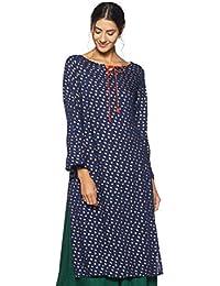Amazon Brand - Myx Women's Rayon Straight Kurti