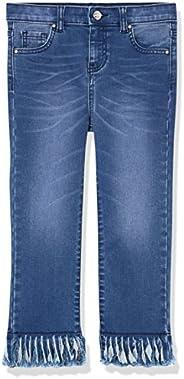 Marchio Amazon - RED WAGON Jeans Bambina con Orlo Sfrangiato