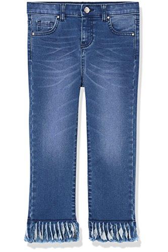 RED WAGON Jeans Mädchen mit Fransensaum, Blau (Blue), 110 (Herstellergröße: 5 Jahre) (Mädchen Denim Floral)