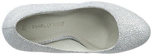 Marco Tozzi 2-2-22423-38, Scarpe con Tacco Donna Blu (Denim Metallic 884)