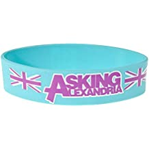 Pulsera Oficial Asking Alexandria Aguamarina (Azul)