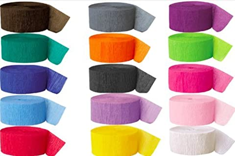 Crepe Paper Streamer Colours Party Wedding Summer Decoration Rolls Arts