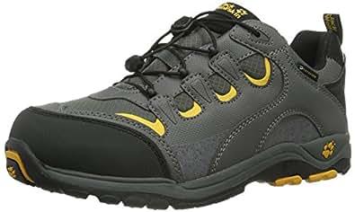Jack Wolfskin  KIDS AMBITION TEXAPORE, Chaussures de randonnée garçon - Gris - Grau (burly yellow 3800), 26 EU