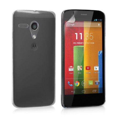 2010kharido Crystal Clear Transparent Hard Back Case Cover for Motorola Moto G XT1031/XT1032