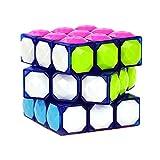JIAAE Karat Diamant Zauberwürfel 3X3 Kinder Puzzle Kristall Rubik,Transparentblue