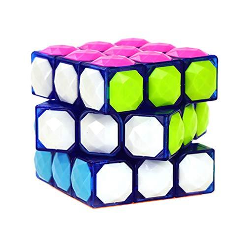 JIAAE Karat Diamant Zauberwürfel 3X3 Kinder Puzzle Kristall Rubik,Transparentblue - Drei-karat-diamant