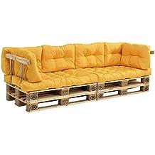 [en.casa]®] Set de 8 Cojines para sofá-palé -