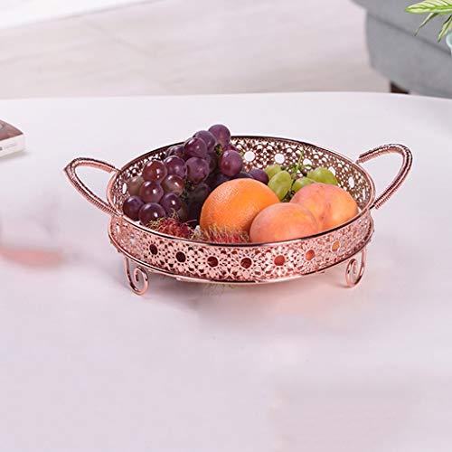 PLL Kreative Obstkorb Moderne Wohnzimmer Obstteller Getrocknete Früchte Süßigkeiten Obst Lagerung Ablass Korb (Color : Rose Gold) (Geschenk-körbe, Früchte Getrocknete)
