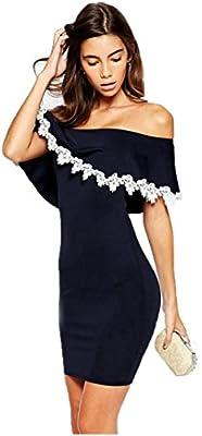 Vestidos de fiesta cortos, Culater Mujer verano fuera del hombro vestido