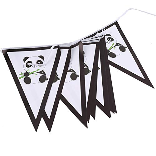 Beafavor Niedlichen Panda Baby Geburtstag Geschirr Dekoration Party Tischdecke Serviette Party Supplies (Wimpel 13)