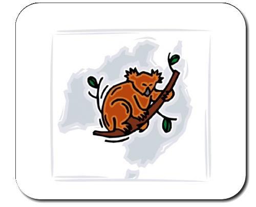 Eukalyptus-bar (Mauspad mit der Grafik: Eukalyptus, wild lebende Tiere, Koala, Australien, Bär)