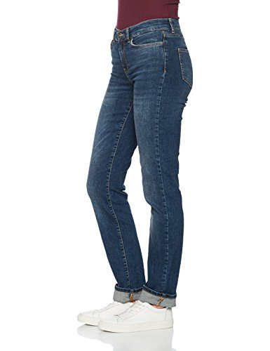 VERO MODA Damen Straight Jeans Blau (Medium Blue Denim)