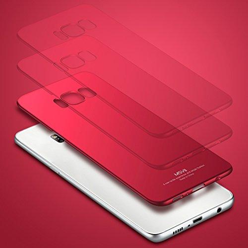 Samsung Galaxy S8 (5,8 Zoll) Hülle, MSVII® Sehr Dünn Hülle Schutzhülle Case Und Displayschutzfolie für Samsung Galaxy S8 (5,8 Zoll) - Gold JY00272 Rot
