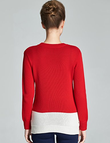 Camii Mia Femme Col Rond Noël Sweat Pulls Rouge (902)
