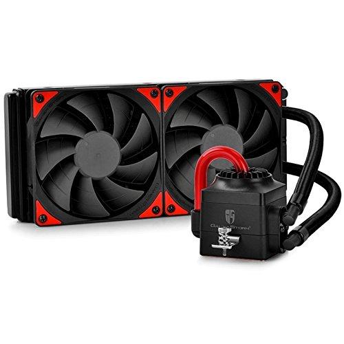 Deepcool Captain 240 EX Sistema di Raffreddamento a Liquido AIO Per Processore AMD Intel CPU Support AM4 Con Pompa LED Rossa 2 Ventole da 120 mm PWM