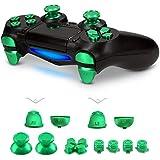 kwmobile Botones de repuesto para Playstation 4 Controller CUH-ZCT1 - Botones de [aluminio] - Botones metálicos en [verde]