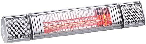 Semptec Terassen-Heizstrahler: 2er-Set Low-Glare-IR-Heizstrahler mit Bluetooth, Lautsprecher & App (Elektrischer Infrarot-Heizstrahler) - 7