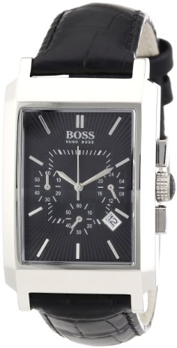 Hugo Boss - 1512258 - Gents Watch - Analogue Quartz - Black Dial - Black Leather Strap