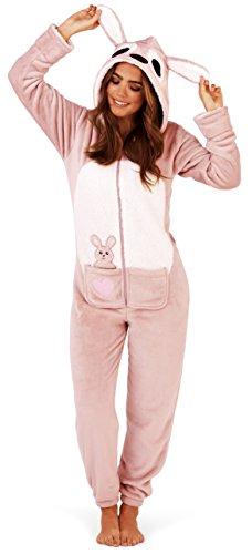 Boutique Damen Overall Neu Damen Alles In Einem Schlafanzug Loungwear Kangaroo