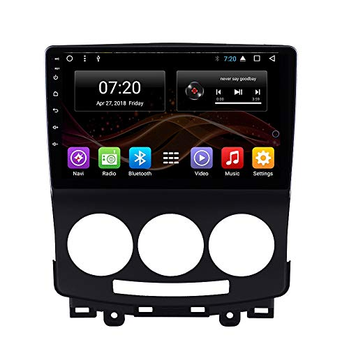 2.5D IPS Android 8.1 Octa Core Car DVD Radio GPS Navigation for Mazda 5 2005-2010 Stereo Audio Navi Video with Bluetooth Calling WiFi Touch Screen (Android 8.1 4+32G for Mazda 5 2005-2010) -