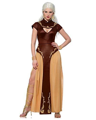 Horror-Shop Fantasy Drachen Kriegerin Verkleidung für Karneval & -