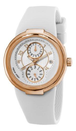 Philip Stein 31-ARGW-RBW–Ladies Watch–Analogue Quartz–White Dial–White Silicone bracelet