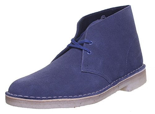 Clarks Originals Desert Boot pour homme en daim Bottes en cuir Denim FV1