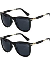 YS 2 Combo Offer Of Stylish 2 Sunglasses For Boys Girls In Warferer (BlackBlack SilverStick Wayfarer) {2BlackBlack-SilverStickWayf-combo...4992,999