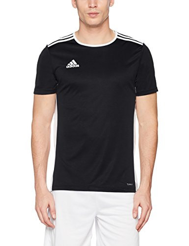 Adidas entrada 18, t-shirt uomo, nero (black/white), xxl
