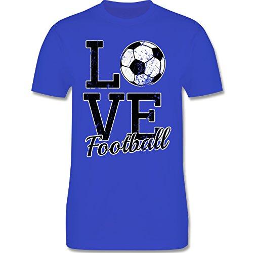 Fußball - Love Football - Herren Premium T-Shirt Royalblau