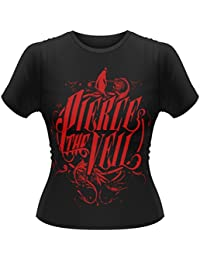 Official Skinny T Shirt PIERCE THE VEIL Selfish Machines RED LOGO