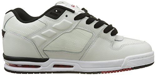 Globe Fury, Chaussures de Skateboard Homme Blanc (White/Black/Red)
