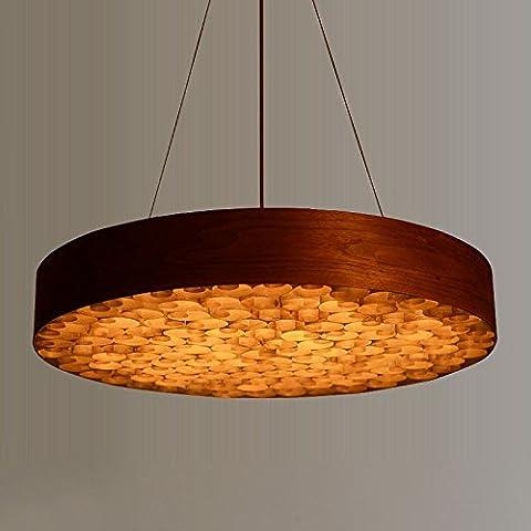 MSUXT lampade a sospensione Soggiorno lampadario di impiallacciatura Ristorante lampade L80*W80*H10cm