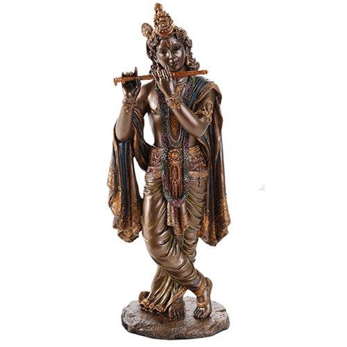 Radha Krishna Hindu Deity Figur Set indische Gottheit Collectible 25,4cm Krishna