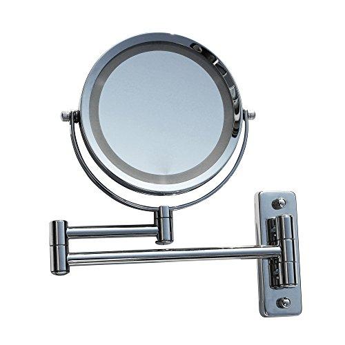 LED Licht Doppel Schminkspiegel Make up Spiegel Kosmetikspiegel Beleuchtet 7-fach 405262