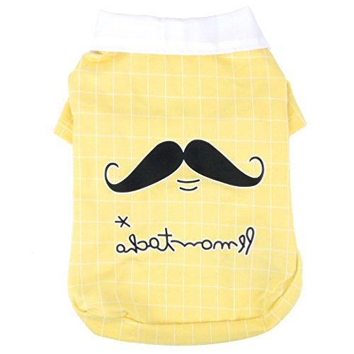 (smalllee_lucky_store Hund Kleidung Funny Mustache Shirt Weich Pullover Warm T-Shirt Pet Coat für Kleine Hunde Boy)