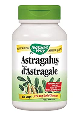 Nature's Way Astragalus Root 470 mg (100 Capsules) by Nature's Way