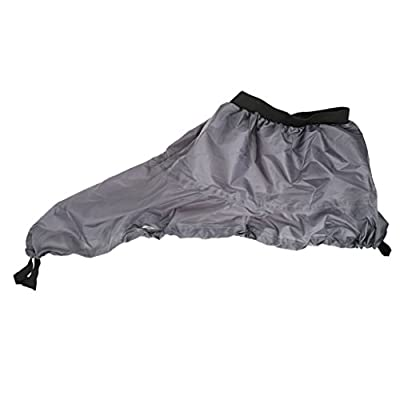 Universal Adjustable Kayak Spray Skirt Deck Sprayskirt Cover Grey from Generic