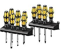 Big Pack 900 Assortimento di giraviti Kraftform; il giravite-scapello della Wera + rack, 13 pezzi