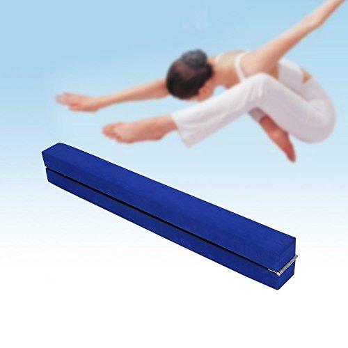 2,2m Poutre de Gymnastique Pliable Poutre Equilibre Entraînement Exercice Sportif à la Maison ou au Gymnase Cadeau Enfant (Bleu)