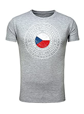 Legendary Items Herren T-Shirt EM 2016 Trikot Wappen Tschechien Czech Republic Fußball Europameisterschaft Vintage European Championship