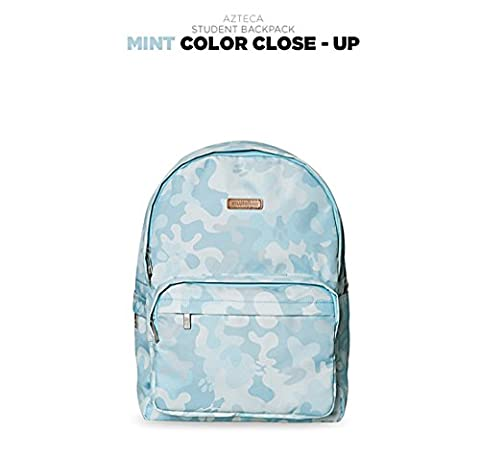 Musterbag AZTECA Camouflage Graphic Pattern Student Backpack - Backpacks laptop bag that can be worn from teen to adult (Mint)