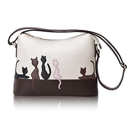 Hotrose Fashion UK Women Leather Handbag Shoulder Bag Satchel Purse Messenger Tote