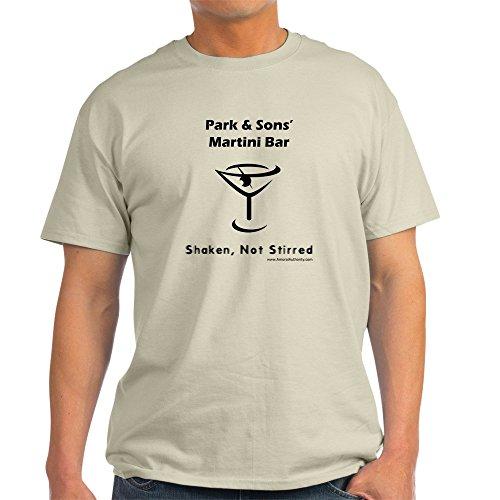 CafePress Park & Sons' Martini Bar T-Shirt (White) T-Shi - 100% Cotton T-Shirt